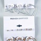 Earrings 3Per Heart & 3 Per Clear Stones/DZ **NEW** Choose Gold nly