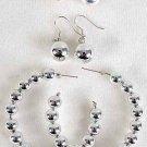 Earrings 3per Silver Beads/DZ Silver