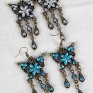 Earrings Butterfly Victorian Look/DZ **NEW**Post, 6 Color Asst