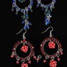 Earrings Circle Beads W Dangos/DZ ** New Arrival** Color Asst
