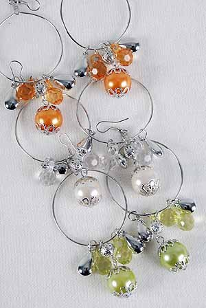 Earrings Crystals With Large Pearl Drop/DZ **NEW**6 Color asst