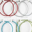 Earrings Glitter Loop 7cm Color asst/DZ **New Arribval** 6 Color asst