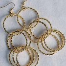 Earrings Gold Metal Circles,Post/DZ Gold