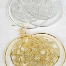 Earrings Large Circle W Filigree Butterflys 3'';x3' ** New Arrival** Choose Gold or Silver