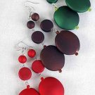 Earrings Large Oval Matte Dangle Color Asst/DZ **NEW** 6 l Color Asst