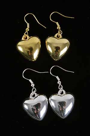Earrings Large Puff Heart /DZ **New Arrival** Tiffany Look