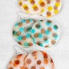"Earrings Seashell Large Dots Color Asst 2""/DZ **NEW** 6 Color Asst"