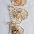 Earrings Teardrop W Wire & Color Beads/DZ 6 Color Asst