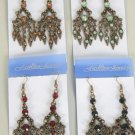 Earrings W Color Stone,Victorian Collection/DZ **NEW**Post,Color Asst