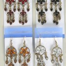 Earrings W Color Stone,Victorian Look/DZ **NEW** Post, Color Asst