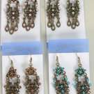 Earrings W Color StoneVictorian Collection/DZ **NEW** Post, Color Asst