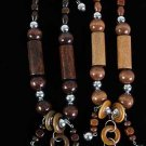 TOP SELLER-Necklace Sets Wood Color Asst 24''/DZ **NEW** 6 Color Asst