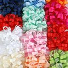Hair Bows Grograin & Chiffon Mix W French Clip/DZ **Special Promation,W French Clip