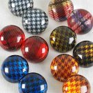 Earrings Button Style W Clip On/DZ **Clip On** 6 Color Asst