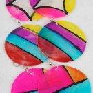 Earrings SeaShell With Deco Paint/DZ Asst Design