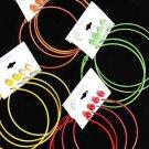 Earrings 4per earrings Multi Color asst/DZ Multi 6 Color Asst