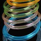 2pcs Bangles Transparent Acrylic 3'' Dia Wide/DZ 7 Color Asst,Transparent Colors