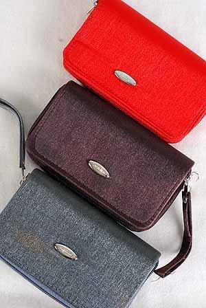 $25/DZ Purse, satin Coin purse/DZ 3''X6'' asst colors