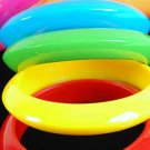 Bangle Wide Acrylic Round 6 Color asst /DZ 6 Color asst
