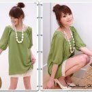 $30/lot of 3 Round neck Long&Simple Puffy Chiffon Lace Sleeves Top