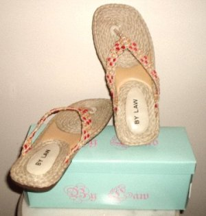 NEW BRAIDED THONGS SANDALS Womens size 8, New in Box