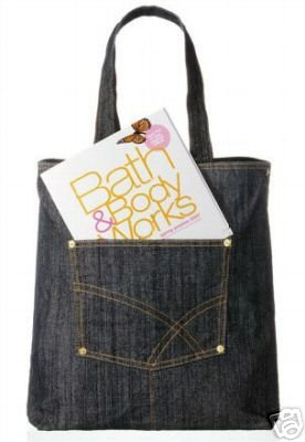 Bath & Body Works Denim Tote Bag Brand New with tags ~ Very cute!