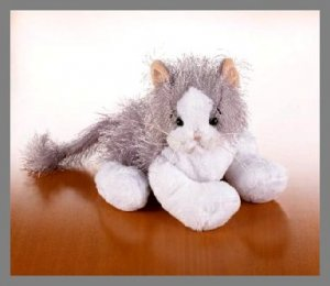 Webkinz Grey Gray & White Cat Retired HTF New with tags