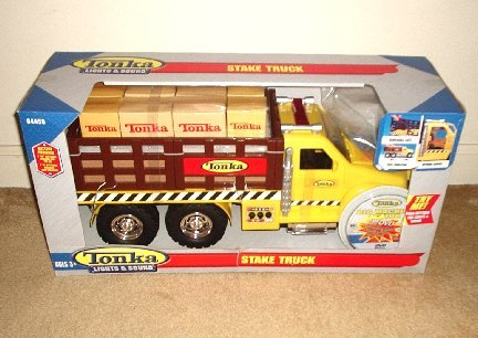 Tonka Lights & Sound Stake Truck with DVD - Brand NEW toy