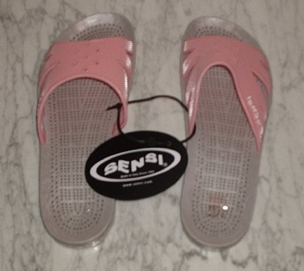 Sensi Capri sandals slip on beach slides shoes PINK Womens 8 - New with tags