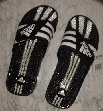 NEW Adidas Santiossage Mens Sandals slip ons beach shoes soccer walking NIB