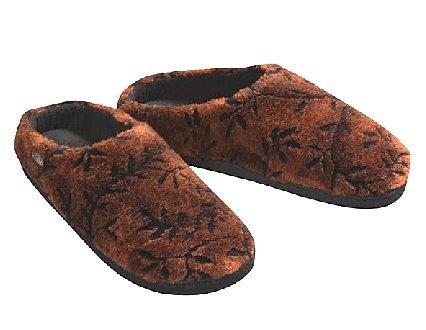NEW Acorn Velvet COZY Mules memory foam slippers Womens Medium