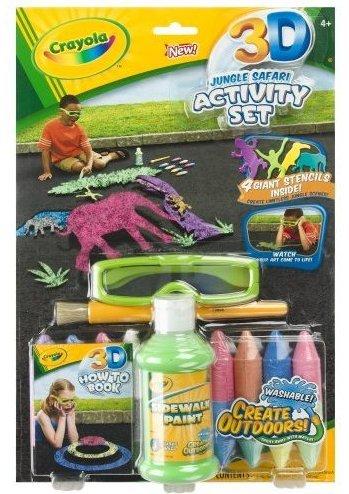 NEW Crayola 3-D Jungle Safari Activity Set with 3D Chalk NIP