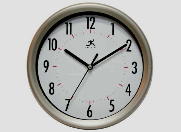 Infinity Instruments Facile Gunmetal Wall Clock NEW in box