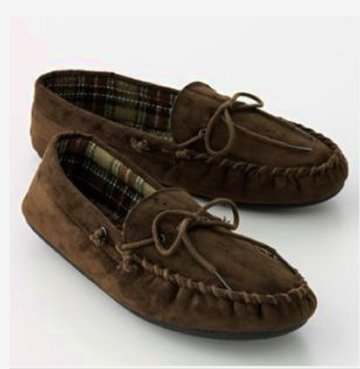Totes Isotoner Microsuede Boater Moccasin Slippers Mens Large NIB NEW
