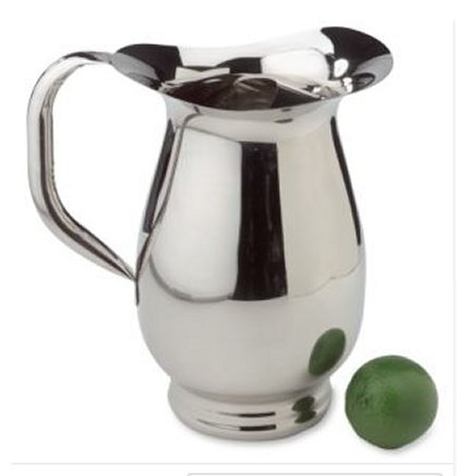 NEW Stainless Steel Water Pitcher by Steeltek 64 oz.