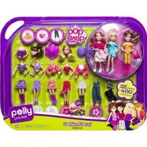 NEW Polly Pocket Pop 'N Swap Fashion Frenzy - Dance NIP