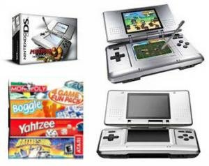 Nintendo Ds Dual Screen Handheld With 4 Games