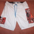 Body Glove Board Surf Shorts Sz 36 Skulls NEW!