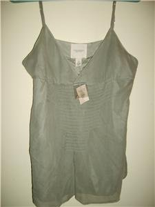 Abercrombie & Fitch silk cami tank top shirt Sz L ~NEW~ -