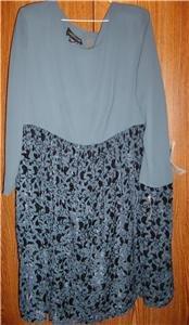 Womens Plus Size Dress Carole Little 16W 2X NWT $158