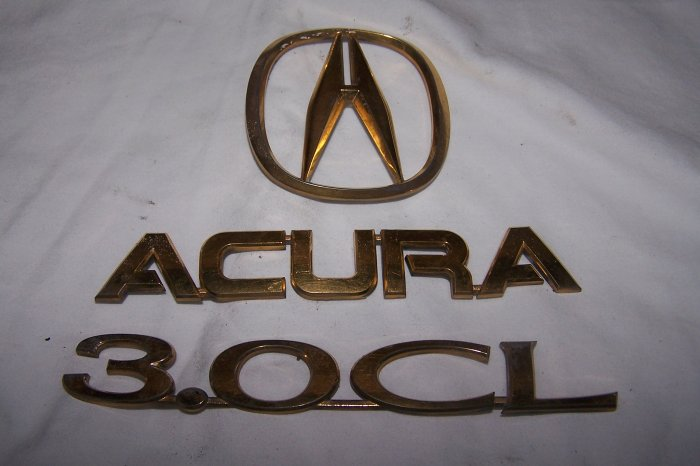 Acura CL Truck emblems gold