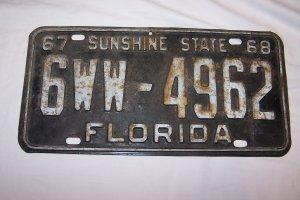 67-68 Florida plate