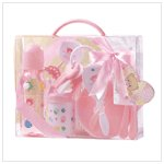 Baby Gift Set in Clear Case Pink