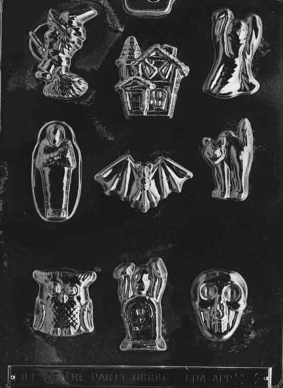 ASSORTED WITH HOUSE CHOCOLATE CANDY MOLD - CANDY,SOAP,PLASTER MOLD MOLDS