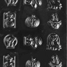 ASSORTED WITH BOO CHOCOLATE CANDY MOLD-CANDY,SOAP,PLASTER MOLD MOLDS