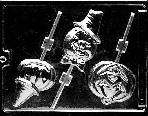 ASSORTED PUMPKIN LOLLY'S CHOCOLATE CANDY MOLD- HALLOWEEN CANDY MOLD -CANDY,PLASTER,SOAP MOLD MOLDS