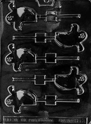 SPOOKY GHOST LOLLY CHOCOLATE CANDY MOLD-HALLOWEEN CANDY MOLD-CANDY,PLASTER,SOAP MOLD MOLDS