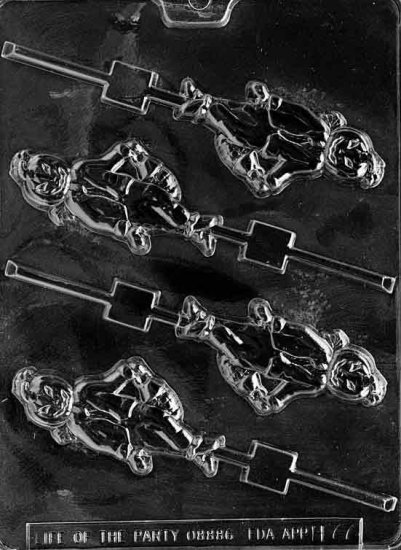 PUMPKIN MAN LOLLY CHOCOLATE CANDY MOLD-HALLOWEEN CANDY MOLD-CANDY,PLASTER,SOAP MOLD MOLDS