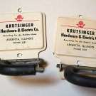 RARE ARGENTA IL KRUTSINGER HARDWARE & ELECTRIC COMPANY PHONE 3581 ADVERTISING MOP BROOM HOLDER