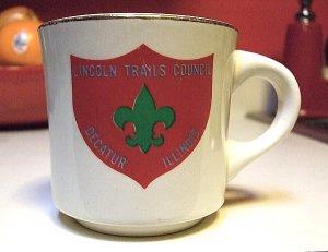 LINCOLN TRAILS COUNCIL DECATUR ILLINOIS BOY SCOUT TROOP CUP MUG ULTRA RARE